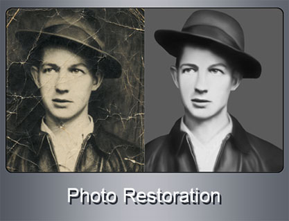 Restore, Repair, Rebuild, Old Photograph, Damaged Images, Torn Photo, Photo Retouhing, Photo Retoration, Black & White to Color, Photo Restoration Services, Photo Retouching Services